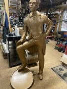 Jack Daniels Distillery Statue With Foot On Whisky Barrel Tennessee