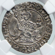 1309-43 Italy Naples King Robert Dand039anjou Antique Medieval Silver Coin Ngc I91593