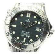 Omega Seamaster 300 Date 2532.80 Automatic Menand039s Navy Dial Ss From Japan [e0517]