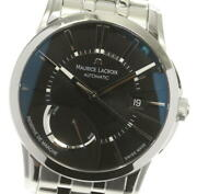 Maurice Lacroix Power Reserve Pt6168 Automatic Ss Black Dial Menand039s Watch [u0517]