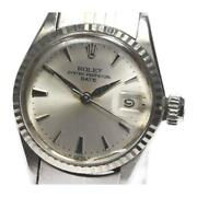 Rolex Oyster Perpetual Date 6517 Cal.1161 Automatic Ladies Silver Dial [e0517]