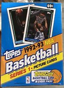 92-93 Topps Series 1 Basketball Cards Factory Sealed Box From A Master Case