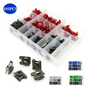 193andtimes Motorcycle Fairing Windshield Body Bolts Clips Panel Color Screw Universal
