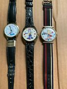 Lot Of 3 Vintage Spiro Agnew Watches Dirty Time Swiss Watch, Nice, Working