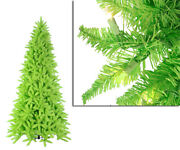 Vickerman 10and039 Slim Lime Green Ashley Spruce Christmas Tree Clear Green Lights