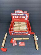 15 Schylling Wood Toy Pop Gun Cork String - New Box Not Included Read As Is