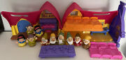 Fisher Price Little People Snow White And The Seven Dwarfs Complete W Bed Table