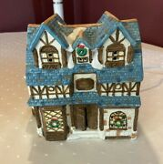Dickens Collectables Hand Painted Porcelain Lighted Decoration Cottage