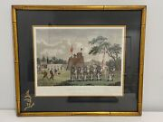 Antique Wm Alexander 1796 Hand Colored Engraving Print A Chinese Military Post