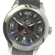 Perrelet 3 Hands Date A5007 Automatic Menand039s Black Dial Ti Rubber [e0518]
