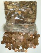 1500 Lincoln Memorial 95 Copper Pennies 10lbs Dates Vary - 1959-1982
