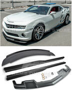 For 10-13 Camaro Ss | Zl1 Style Front Lip Side Skirts And Rear Wickerbill Spoiler