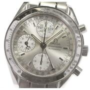 Omega Speedmaster Day-date Chronograph 3523.30 Automatic Menand039s Silver [e0518]