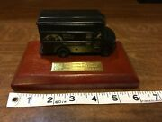 Vintage 90s Ups Delivery Truck Figure 90th Anniversary Metal On Wood