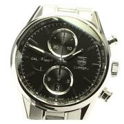 Tag Heuer Carrera Cal.1887 Car2110-1 Automatic Menand039s Black Dial Ss [e0518]