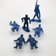 Lot Of 6 Vtg Mpc Blue Toy Soldier Army Men 2-1/2 54mm Ringhand Marx Sailer 70mm