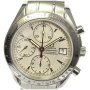 Omega Speedmaster Date 3211.30 Automatic Menand039s Silver Dial Ss From Japan [e0518]