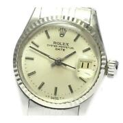Rolex Oyster Perpetual Date 6517 Cal.1161 Automatic Ladies Silver Dial [e0518]