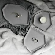Cement Silicone Tray Molds Concrete Coaster Candle Craft Plate Planter Holder