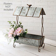 New French Country Cottage Bird Gazebo Wishing Well Box Planter Stand Container