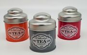 Old Williamsburg Set Of 3 3oz Candles Tins W/ Lids Pure Tea Leaf Strong Scents