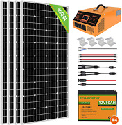 Eco-worthy 800w 3.2kwh Solar Power System Kit For Home House 4pcs 195w Solar Pa