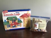 2 Sets Lincoln Logs Playskool Village And Hasbro Frontier Farm Complete 200+ Pcs