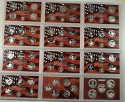 1999 - 2008 And 2009 2010 Silver Proof State And Territory Quarters