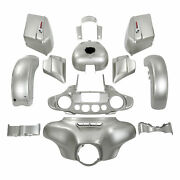 Fairing Bodywork Fit For Harley Touring Street Glide 2018 2014-up Silver Fortune