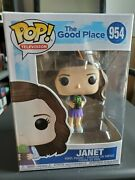 The Good Place Janet With Cactus Pop -shipped In Plastic Protector