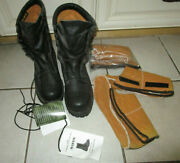 Original Us Army Black Leather Gore-tex Boots Size 8-1/2 With 2 Pairs Inserts