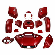 Fairing Bodywork Fit For Harley Touring Road Glide 19 2015-2021 Wicked Red Denim