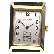 Longines K18yg Dolce Vita Small Second L5.662.6 Manual Menand039s Silver Dial [e0519]