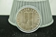 9-11-2001 World Trade Center Land Of The Free 1 Oz .999 Silver Art Round 930