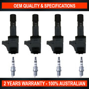 Pack Of Swan Ignition Coils And Ngk Iridium Spark Plugs For Honda Civic 1.8l