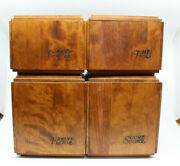 Baribocraft Canada Wooden Canister Set Of 4 Vintage Sugar Flour Coffee Tea As-is