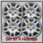 2011-2012 16 Silver Bolt On Nissan Sentra Hubcaps Fits Sentra Wheel Covers 4