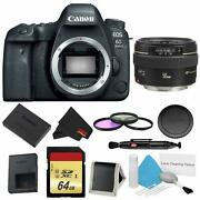 Canon Eos 6d Mark Ii Dslr Camera Body Only 3 Piece Filter W/memory Bundle +