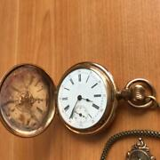Antique Billodes Pocket Watch Compass Chain Case Size 46mm Dial Color White Used