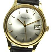 Schaffhausen K18yg Antique Cal.8541 Automatic Menand039s Silver Leather [e0520]