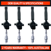 Pack Of Swan Ignition Coils And Ngk Spark Plugs For Mercedes Benz E200k 1.8l S/c