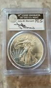 2012-w Pcgs 1oz 1 American Silver Eagle Ms70 First Strike Mercanti Signed