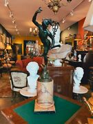 Early 19th Century Grand Tour Bronze Statue Of Mercury By Giambologna On The Sie