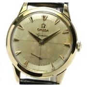 Omega Geneva K18yg Antique Small Second Cal.266 Automatic Menand039s Gold [e0520]
