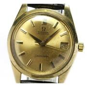 Omega Seamaster K18yg Cal.562 Antique Automatic Menand039s Gold Dial Leather [e0520]