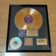 Used Megadeth Rust In Peace Gold Disc Record 500000 Copies Commemoration