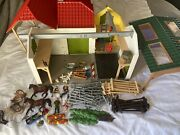 Schleich Farm World Horse Barn And Stable 42333 Toy Garden Kids Learning Play