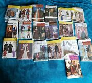 Lot Of 23 Patterns Mccalland039s Simplicity Butterick History Halloween Cosplay