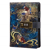Diary With Lock A6 Locking Diary Locking Journal For Adults Pu Leather Binder 6
