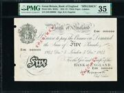 Great Britain 5 Pounds Specimen 1944 Bank Of England